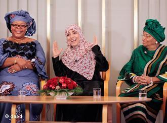 Oslo: ganadoras del Nobel Paz 2011 quieren inspirar a otras mujeres