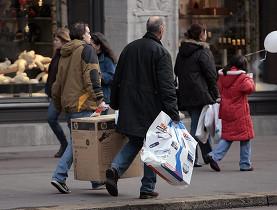 Los suizos se suman a la fiebre del consumo navideño